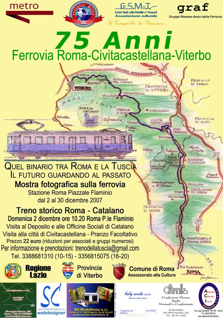 75 anni ferrovia roma civitacastellana viterbo