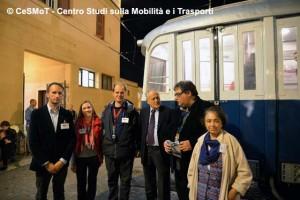 Alcuni volontari delle associazioni, insieme al presidente di ATAC, Roberto Grappelli, venuto in visita al polo Museale